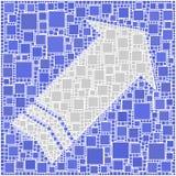 bleu de flèche Photo stock