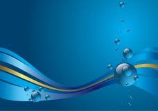 bleu de fond Photos stock