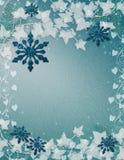 Bleu de fond de flocons de neige Photos stock
