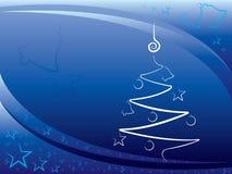 Bleu de fond de Noël Images libres de droits