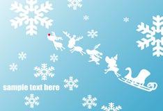 Bleu de fond de Noël Photos libres de droits
