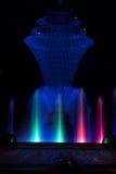 Bleu de fontaine de parc de Bayliss Images libres de droits