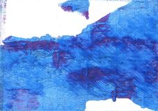 Bleu de France abstract watercolor background Royalty Free Stock Image