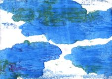 Bleu de France abstract watercolor background Royalty Free Stock Photo