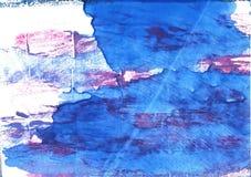 Bleu de France abstract watercolor background Royalty Free Stock Photos