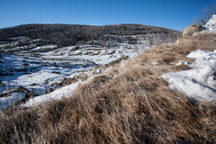 Bleu de galopin, montagne de neige dans NSW/AUSTRALIA image libre de droits