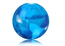 Bleu de globe Photo libre de droits