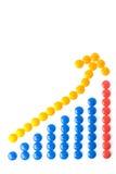 Bleu de graphique de milieu économique Image libre de droits
