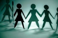 Bleu de groupe de femme   Image stock