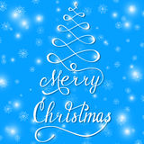 Bleu de Joyeux Noël Photographie stock