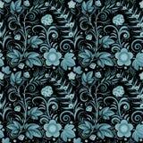 Bleu de Khokhloma Image stock