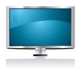 Bleu de l'affichage à cristaux liquides TV Image stock