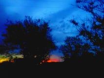 Bleu de lever de soleil Photos stock