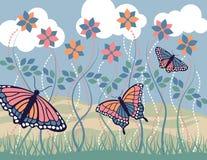 Bleu de matin de monarque Illustration Libre de Droits