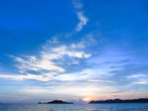 Bleu de mer Photographie stock