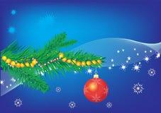 Bleu de Noël Image stock