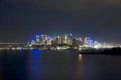 Bleu de nuit de Wavert de ville de Sy Image libre de droits