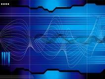 Bleu de perspectives de l'espace illustration de vecteur