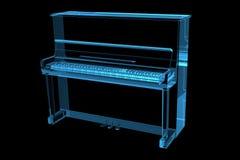Bleu de rayon X du piano 3D Images libres de droits