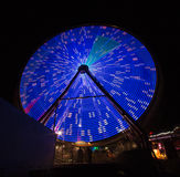 Bleu de roue de rotation Images stock