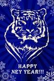 Bleu de tigre de NY Illustration de Vecteur