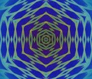 Bleu de turquoise sans couture de vert de modèle d'hexagone centré Photo stock