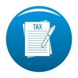 Bleu de vecteur d'icône de déclaration de revenu Photographie stock