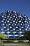 Bleu de vue de ville sur le bleu Images stock
