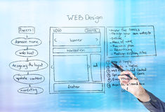 Bleu de web design photo libre de droits