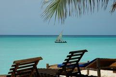 Bleu de Zanzibar Photos libres de droits