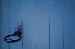 Bleu drewniany drzwi Obrazy Stock