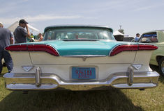 1958 bleu Edsel Citation Rear View Images libres de droits