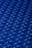 Bleu embouti en métal Photos libres de droits