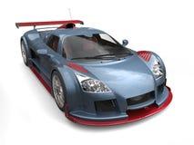 Bleu en acier automobile superbe moderne et peinture métallique de cerise illustration libre de droits