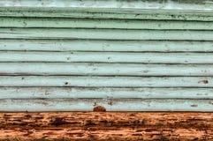 Bleu en bois de mur de rondin Fond Photographie stock