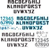 Bleu et aquarelle d'alphabet Image libre de droits