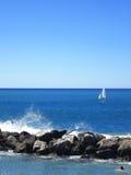 Bleu et blanc Image libre de droits