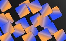 Bleu et fond de recouvrement orange de places - les formes géométriques abstraites wallpaper photos libres de droits