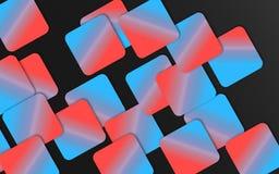 Bleu et fond de recouvrement rouge de places - les formes géométriques abstraites wallpaper images libres de droits