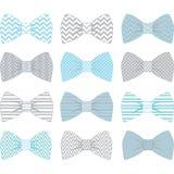 Bleu et Grey Bow Tie Collection mignons illustration de vecteur