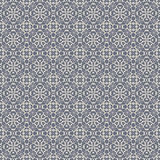 Bleu et Grey Damask Wallpaper Pattern sans couture Photo stock