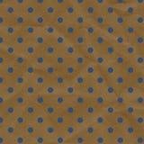 Bleu et papier chiffonné de point de polka de Brown Photos stock