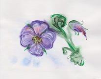 Bleu et Violet Garden Flower Images stock