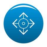 Bleu facile d'icône de cible illustration de vecteur