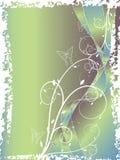 Bleu floral abstrait de remous Photo stock
