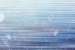 Bleu froid abstrait Photos libres de droits