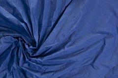 Bleu froissé de texture de tissu Image libre de droits