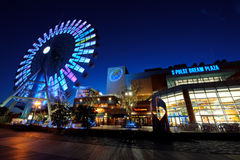 Bleu géant de roue Photographie stock