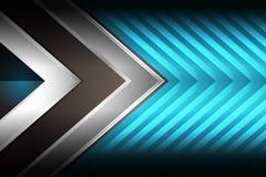 Bleu géométrique de fond Photographie stock