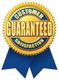 Or bleu garanti par satisfaction du client illustration de vecteur